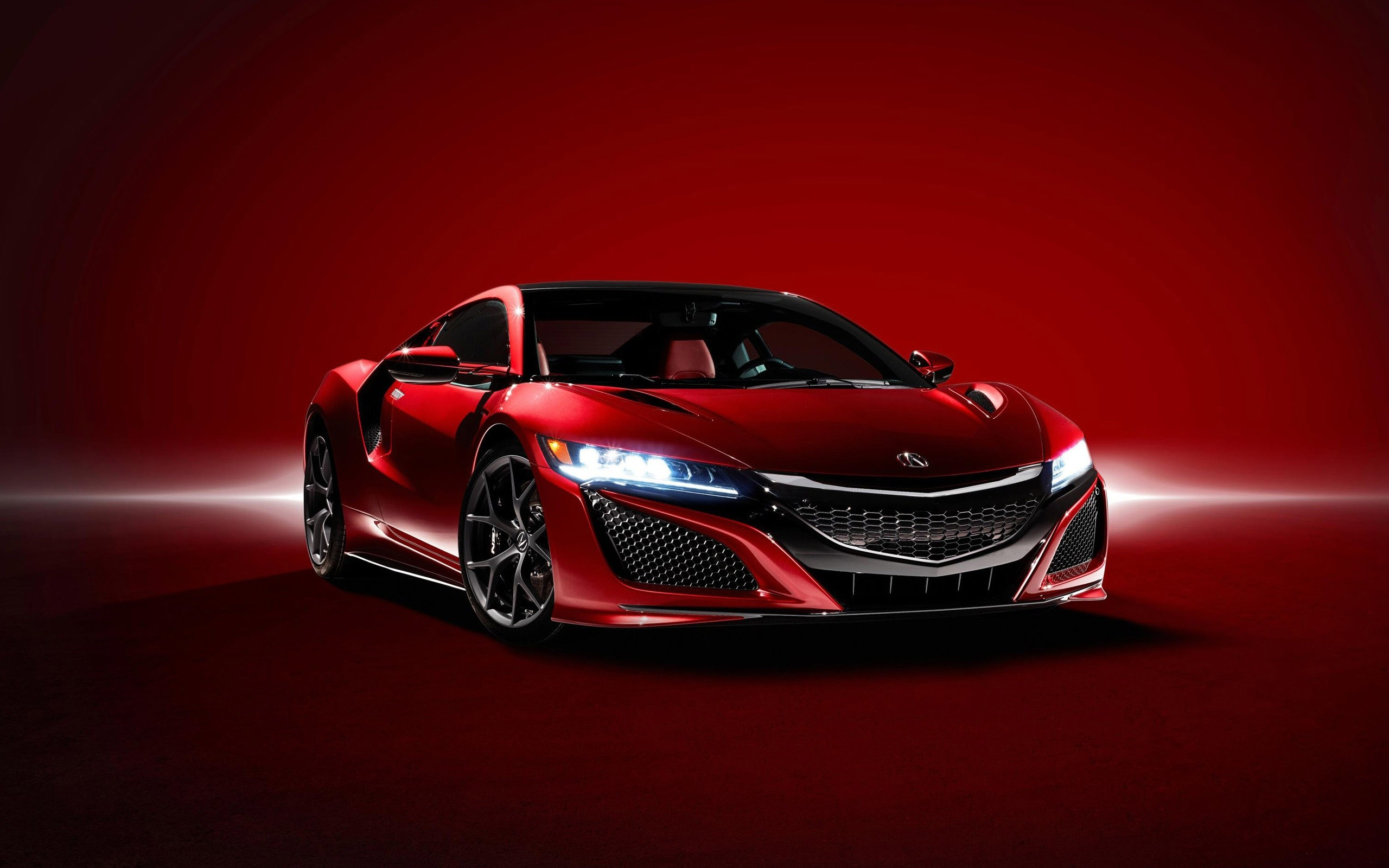2560x1600 New Acura NSX Red Car Wallpaper Download High Quality