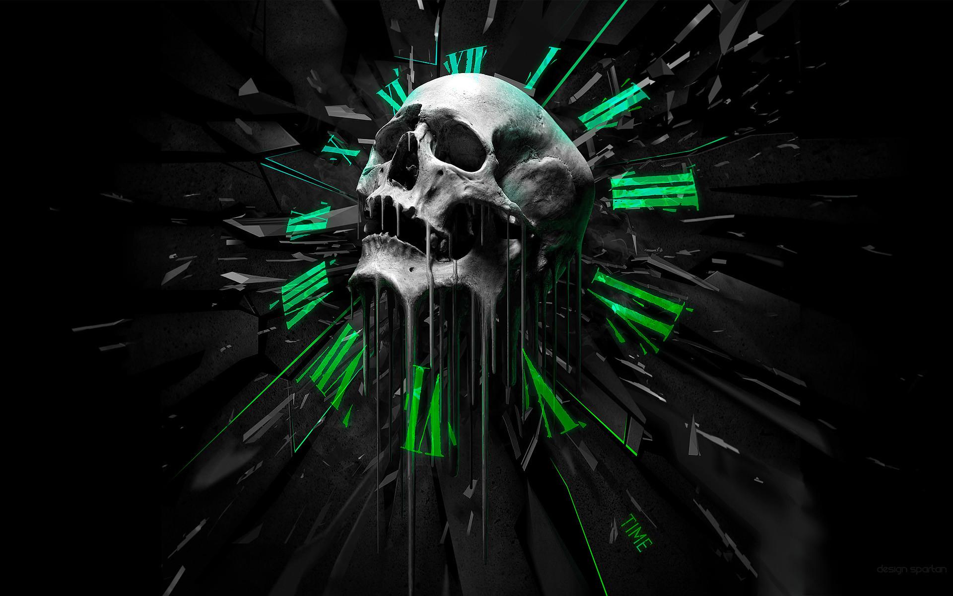 1920x1200 Time skull • meh.ro