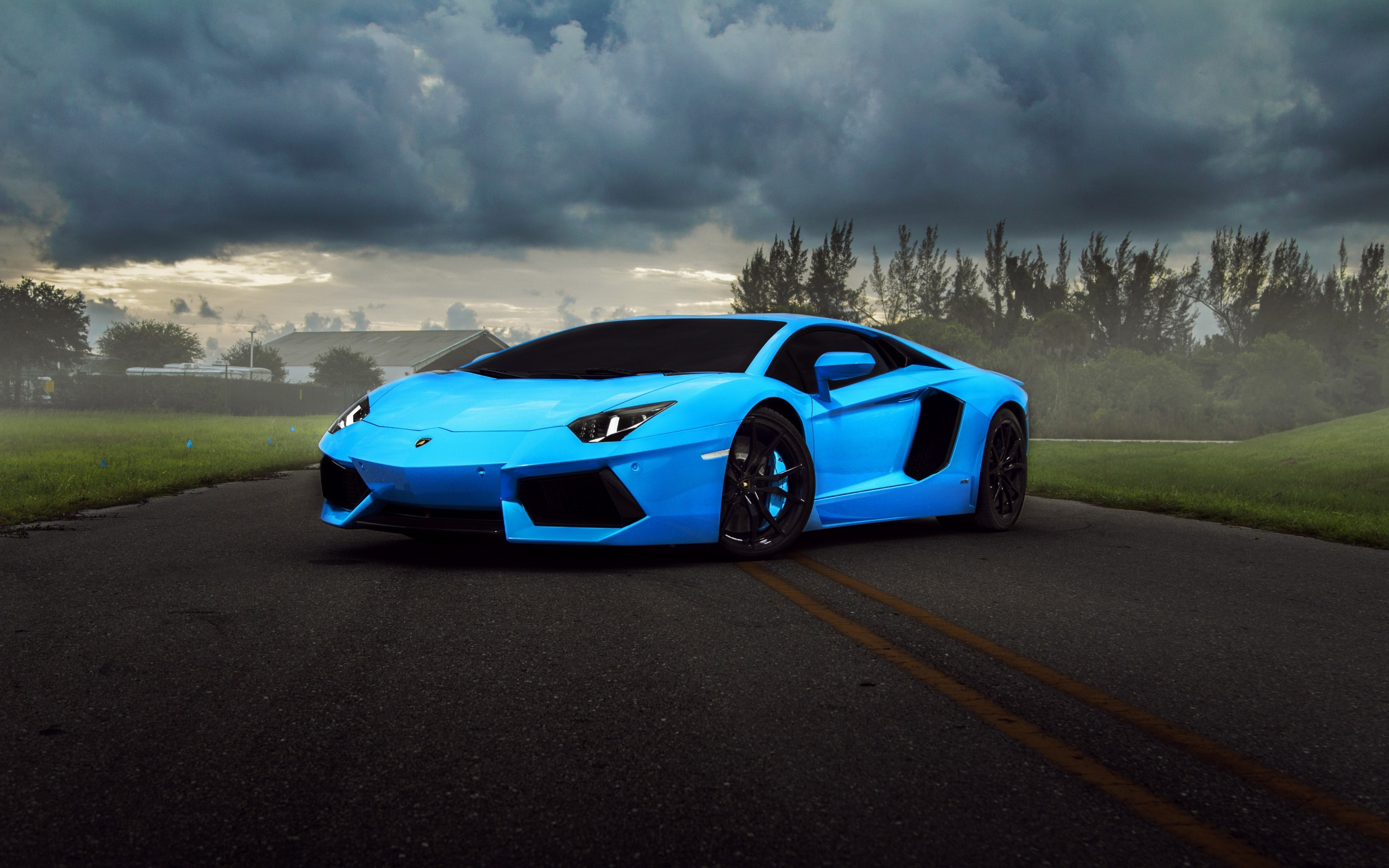 2880x1800 ... lamborghini aventador roadster lp700 4 blue new car wallpapers .