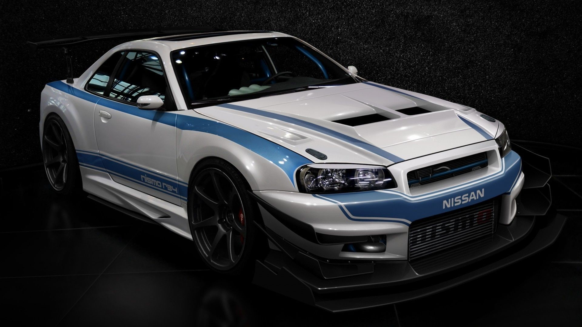 1920x1080 Cars design tuning tuned nissan skyline r34 gt-r wallpaper .