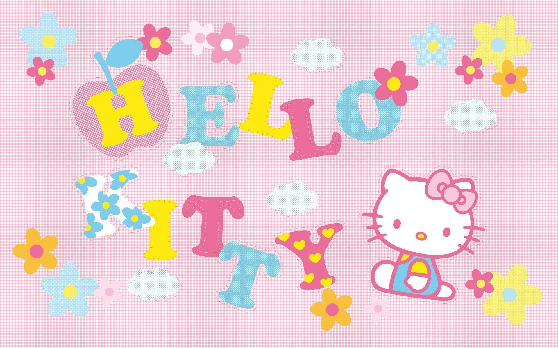 1920x1200 Pink Hello Kitty Character Wallpaper | Hello Kitty Wallpapers