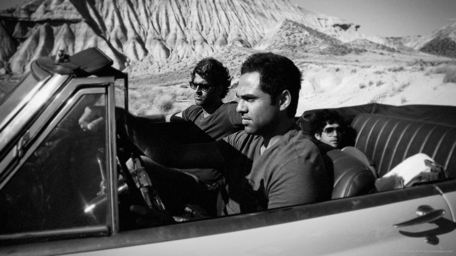 1920x1080 Abhay Deol road trip black and white for