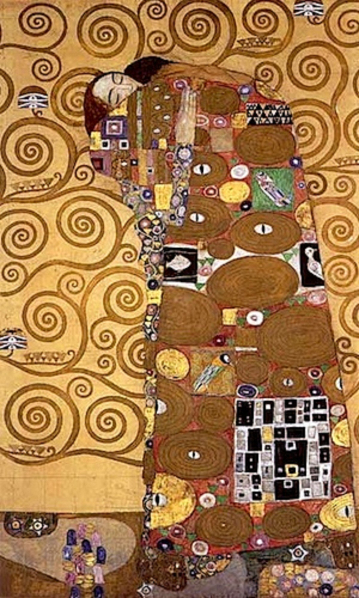 "1200x2000 ""Stoclet-Fries: Lebensbaum (The Tree of Life)"" (detail) c. 1905-08 Gustav  KLIMT (1862-1918) (Brussels: Palais Stocle)"