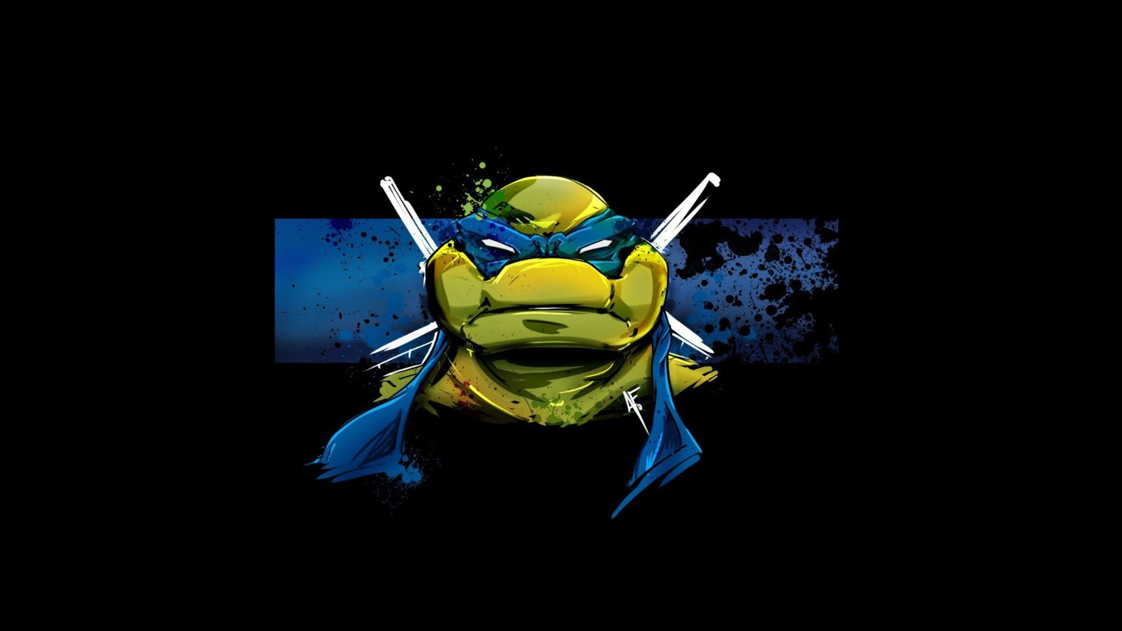 3840x2160 Leonardo minimalism ninja turtles tmnt wallpapers.