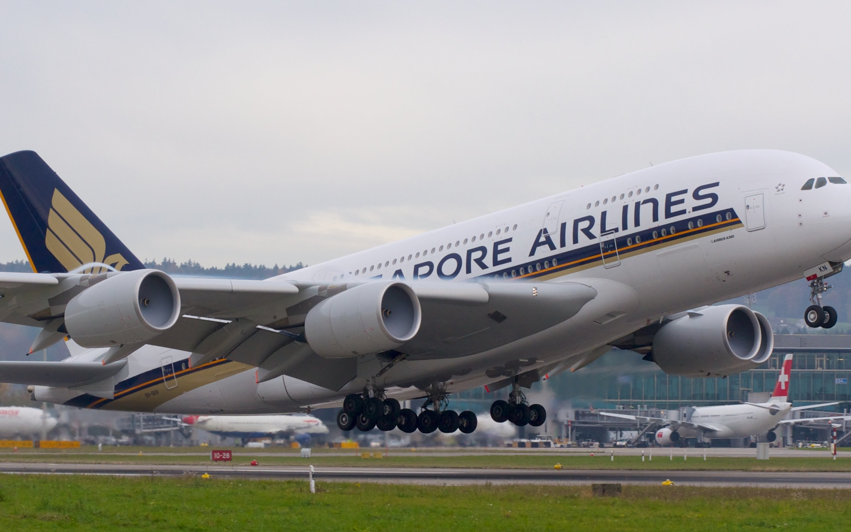 2880x1800 HD Wallpaper: Singapore Airlines Airbus A380-800