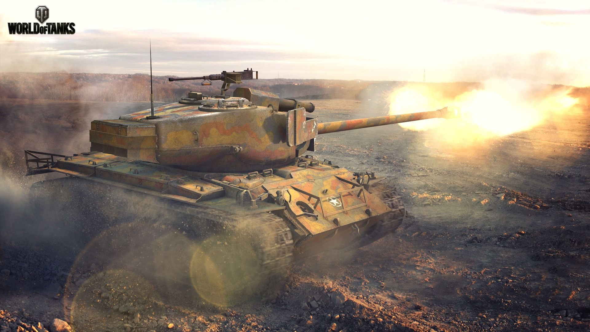 1920x1080 World of Tanks T26E4 Super Pershing Firing Games military wallpaper |   | 98295 | WallpaperUP