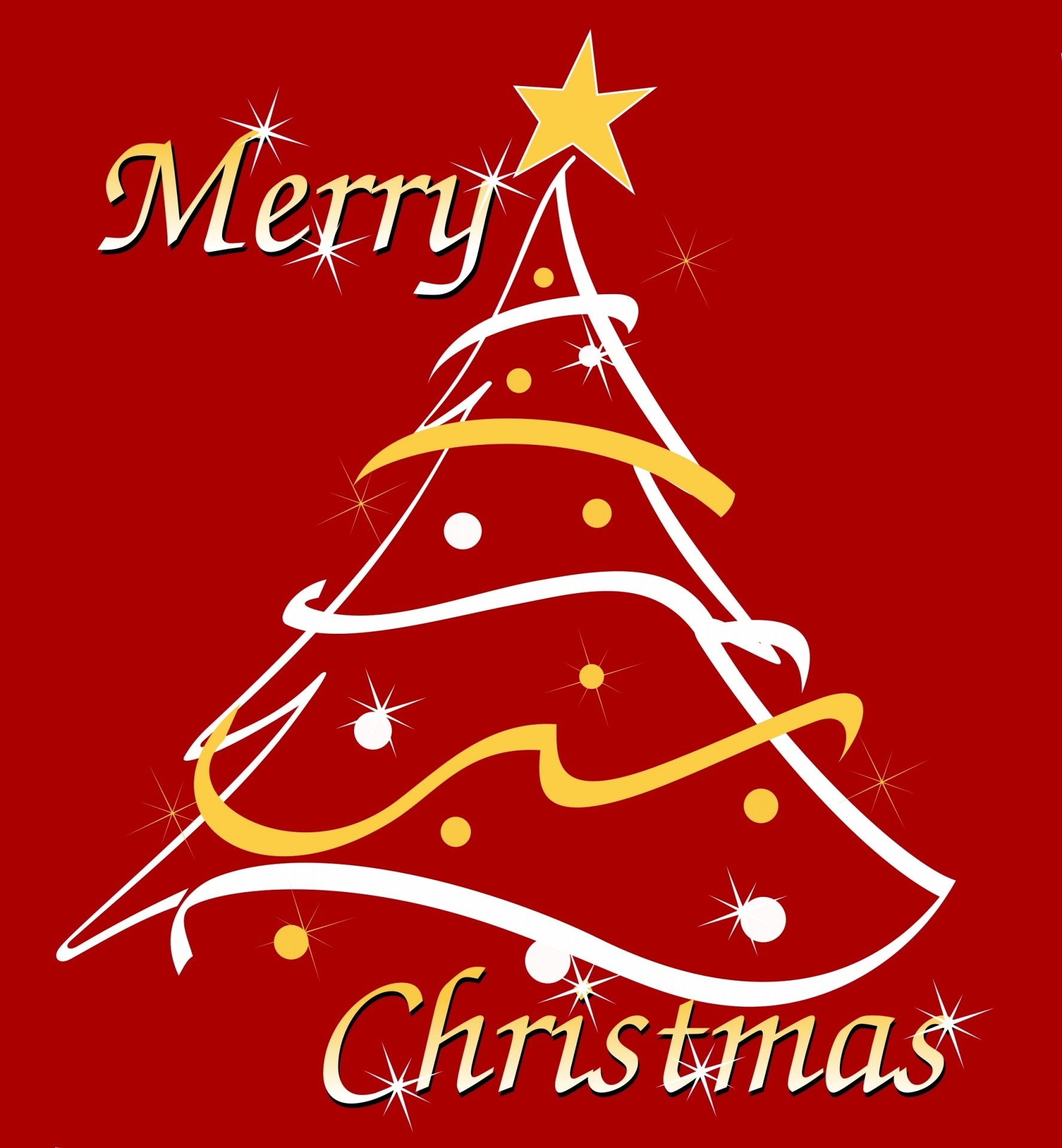 1775x1920 christmas,tree,stylized,art,clipart,star,ornaments,red,