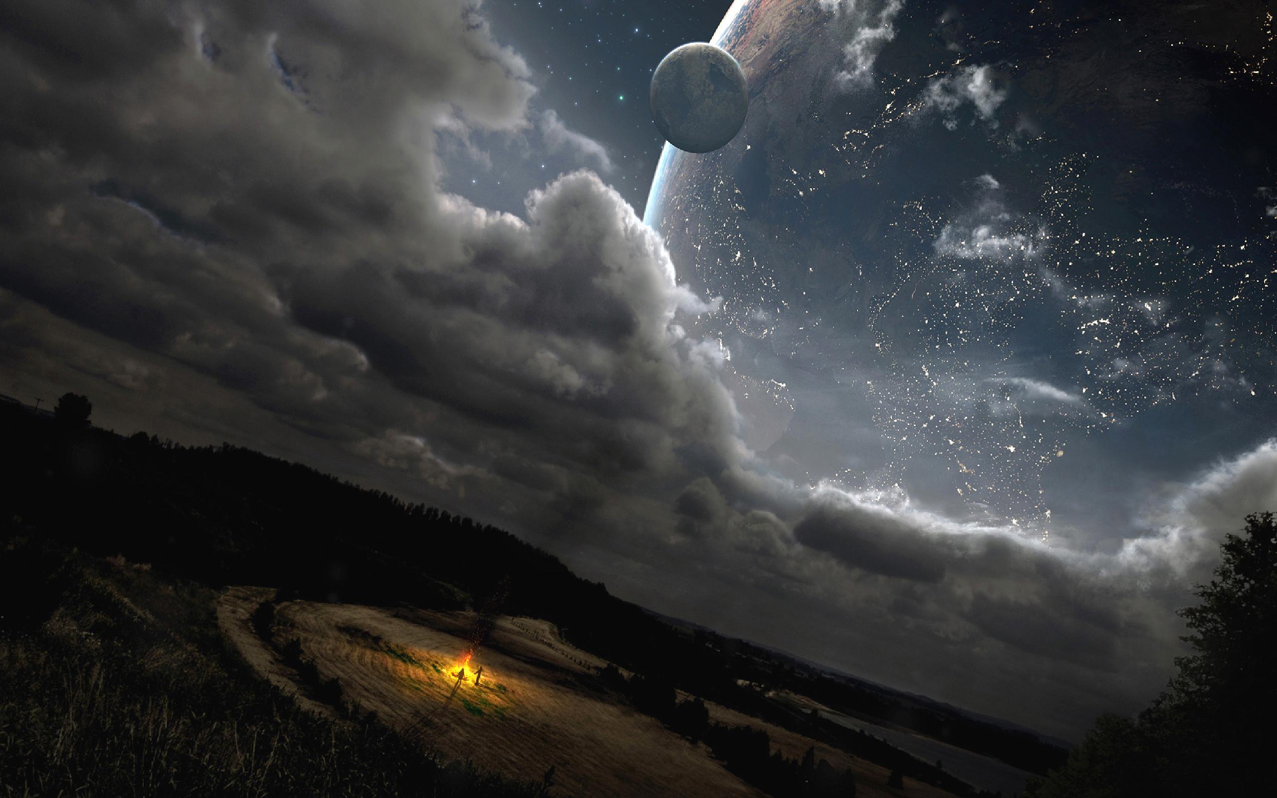 2560x1600 Moon Sci Fi A HD Wallpaper