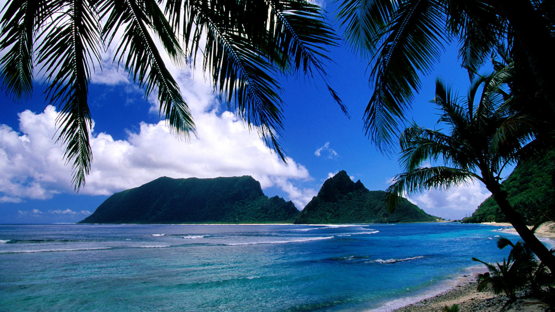 1920x1080 American, samoa, island, background, deliver, greeting, travel .
