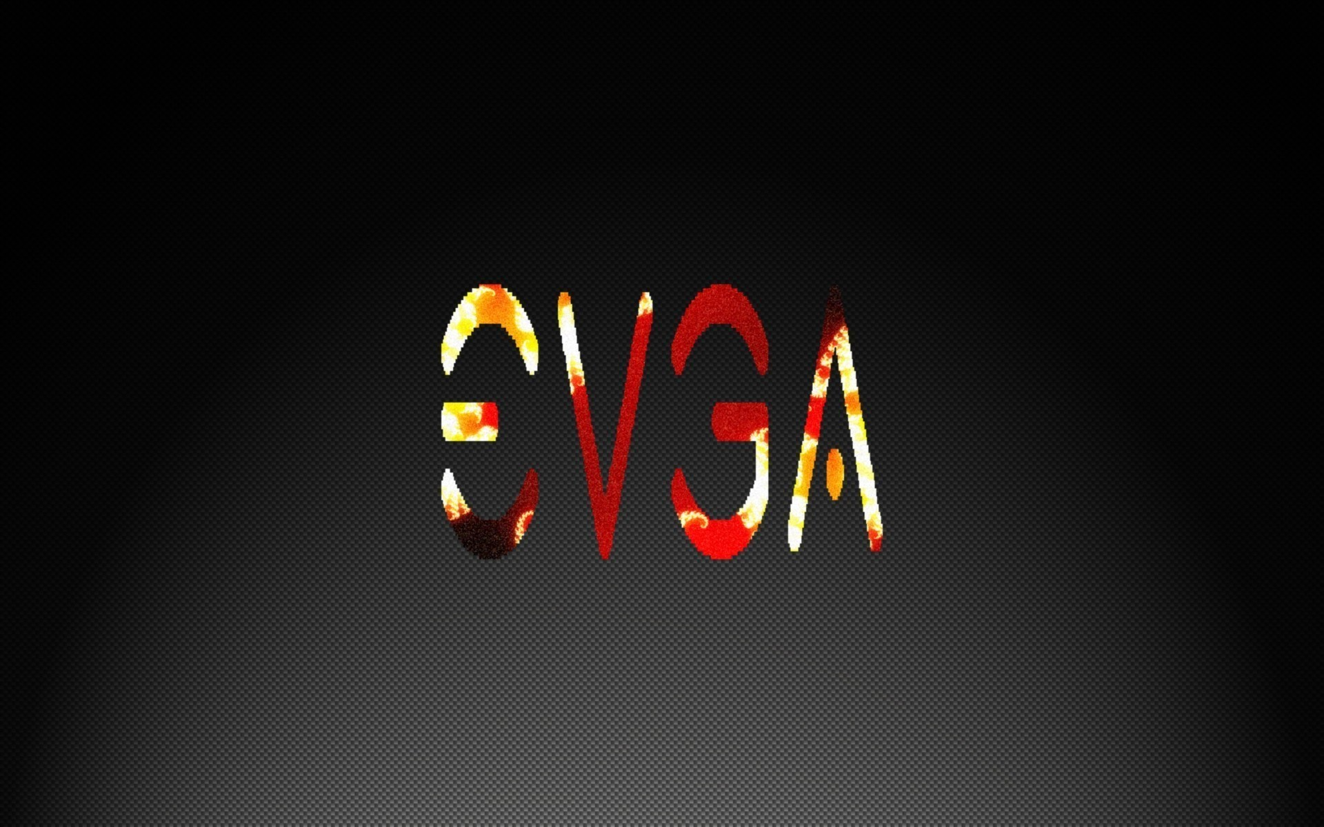 1920x1200 Evga black fire flames wallpaper