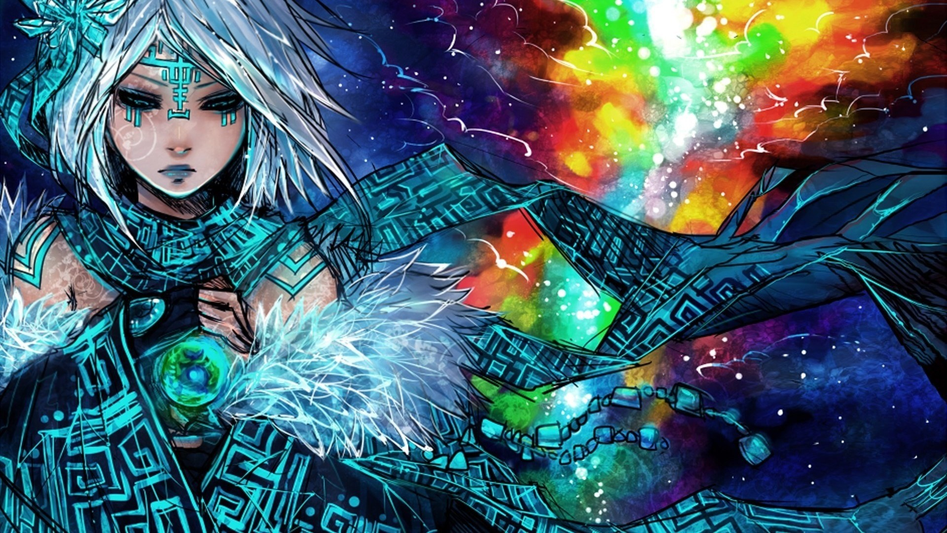 1920x1080 tribal mage hd anime wallpaper