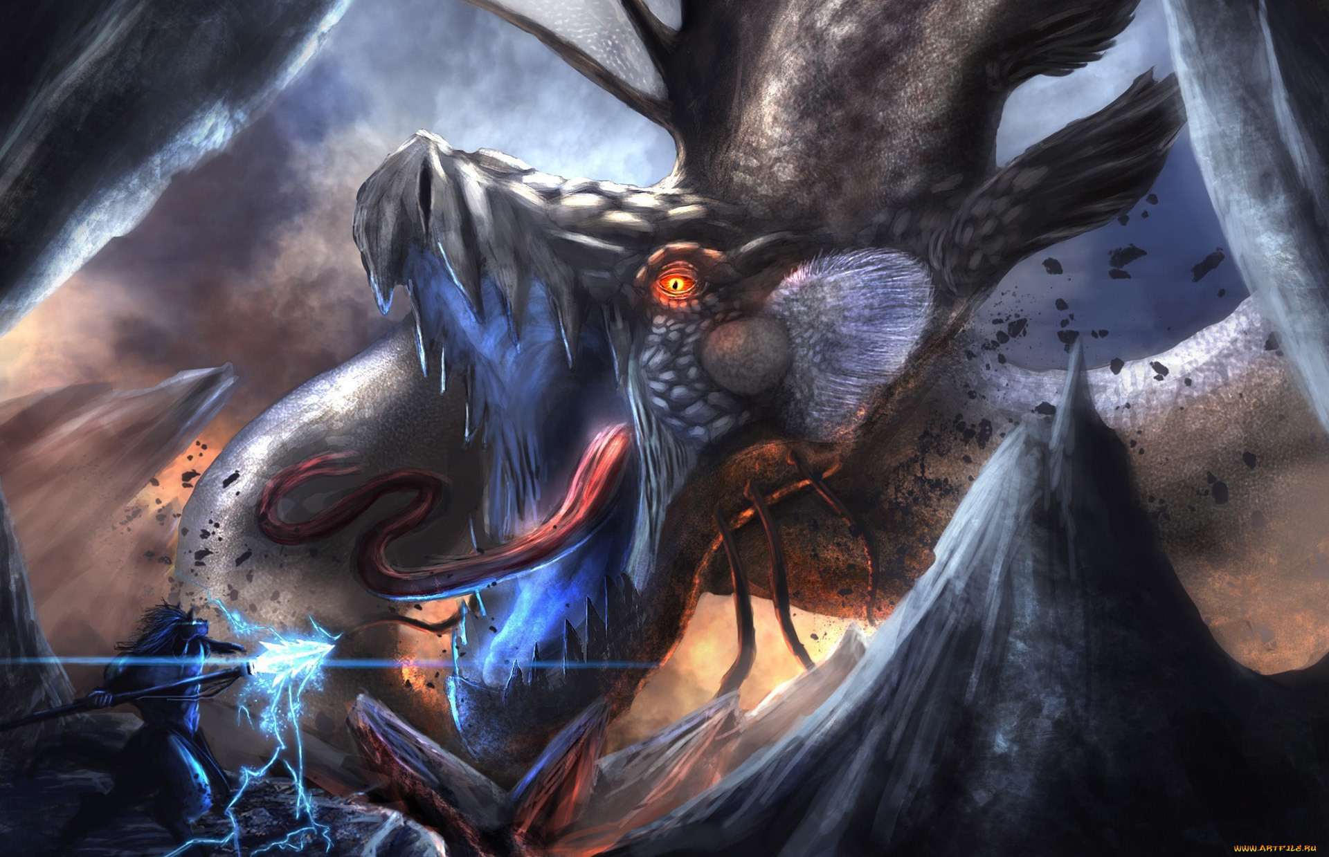 1920x1239 Epic Anime Fight Wallpaper Epic fantasy warrior dragon