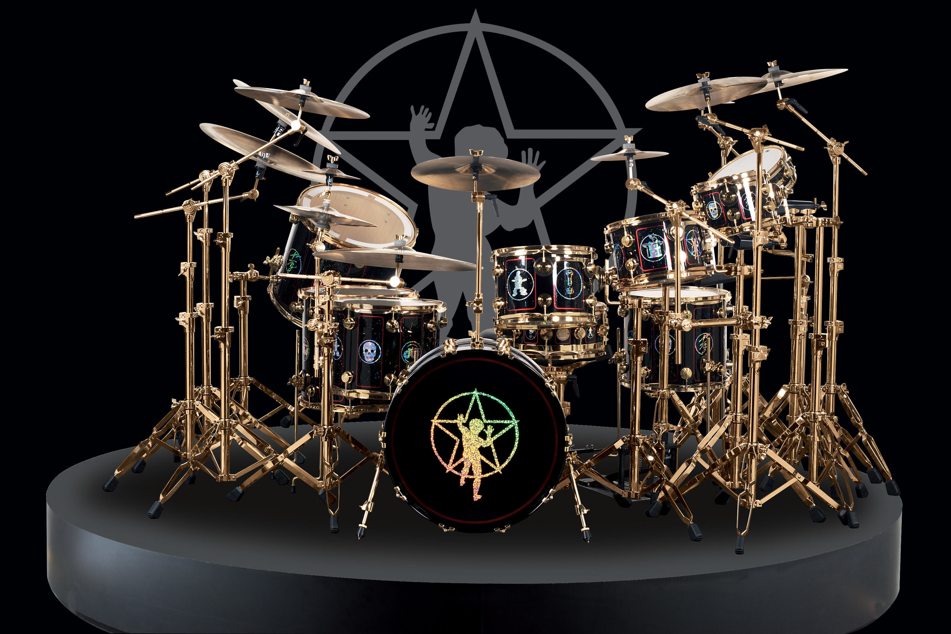 3072x2048 Drum Set Background For wallpaper thumb