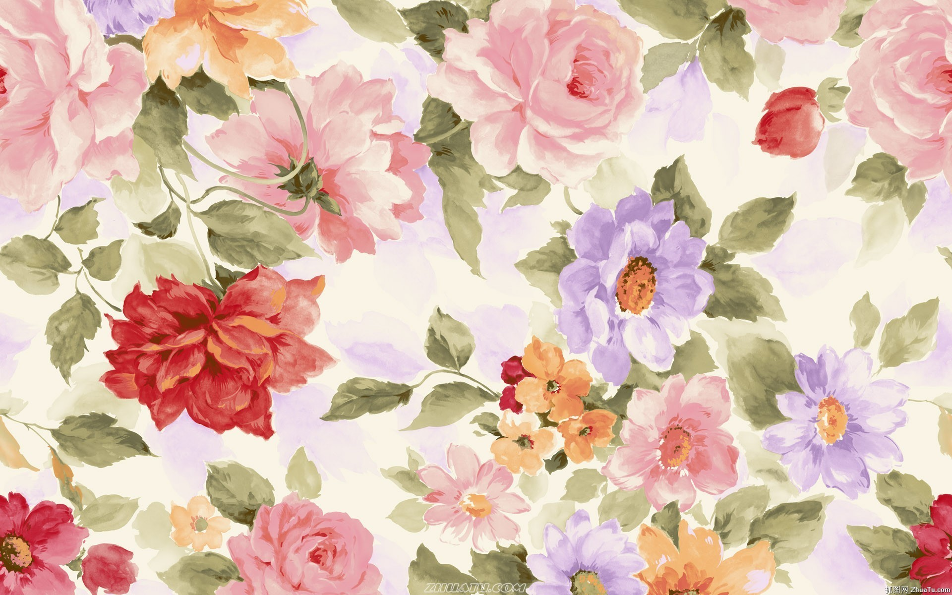 Watercolor Flowers Wallpaper 51 Images