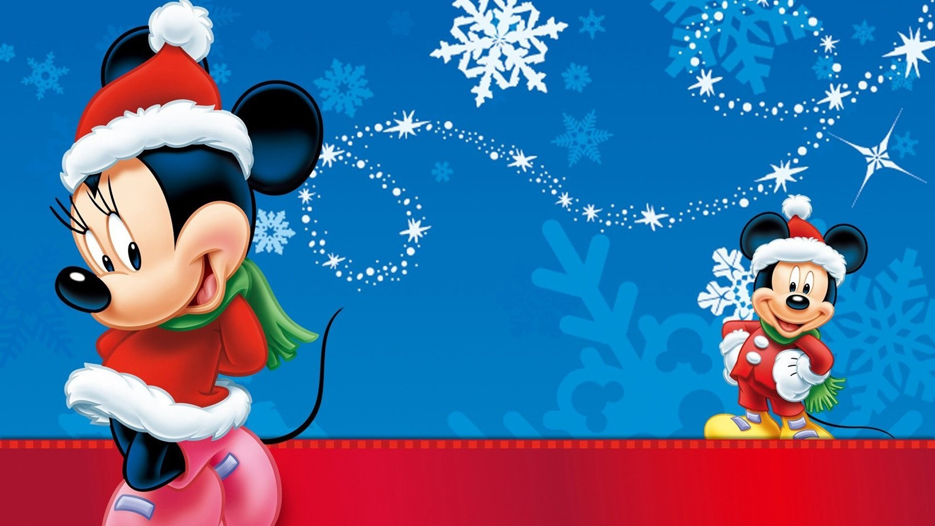 1920x1080 Minnie And Mickey Mouse Christmas Wallpaper Hd : Wallpapers13.com