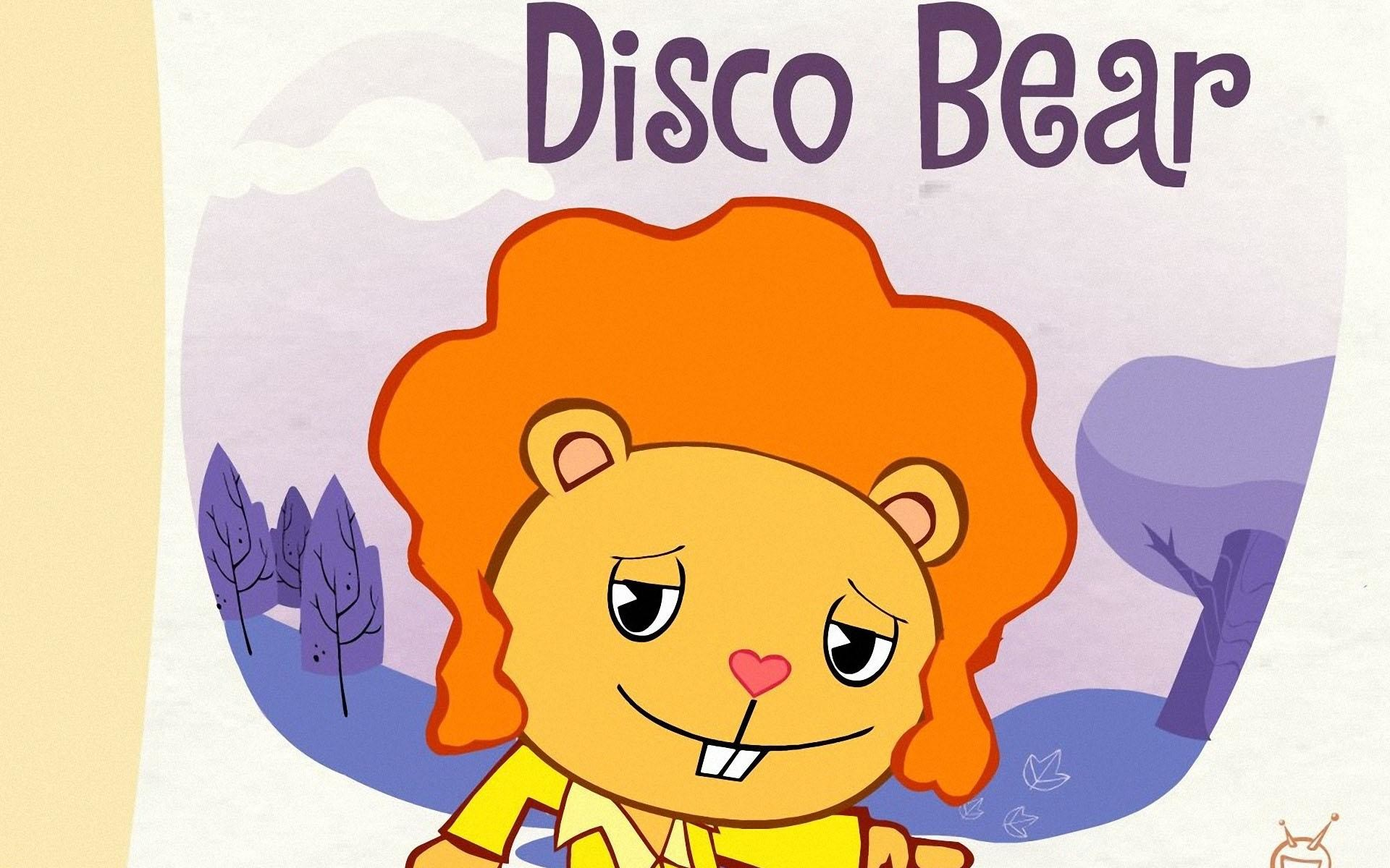 1920x1200 HD Wallpapers Disco Bear - Happy Tree Friends 2011
