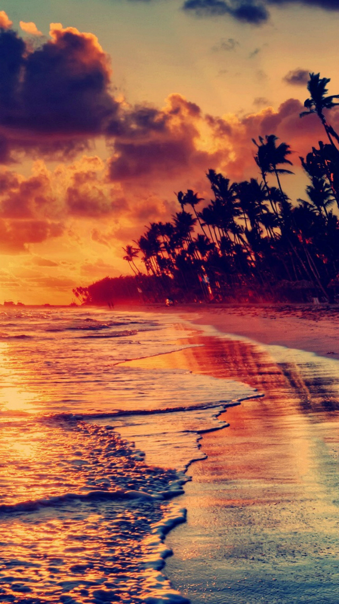 Sunset beach wallpaper 70 images - Beautiful country iphone backgrounds ...