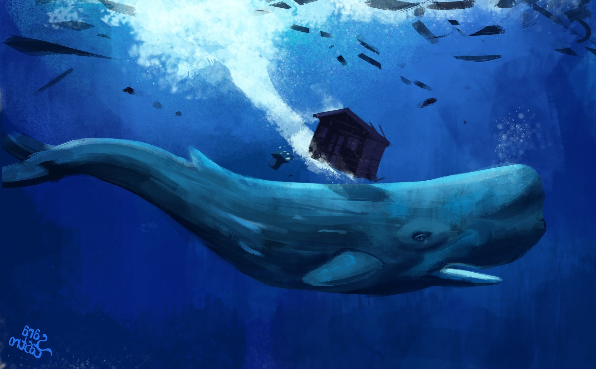 1920x1191 artwork, Animals, Whale, Underwater Wallpapers HD .