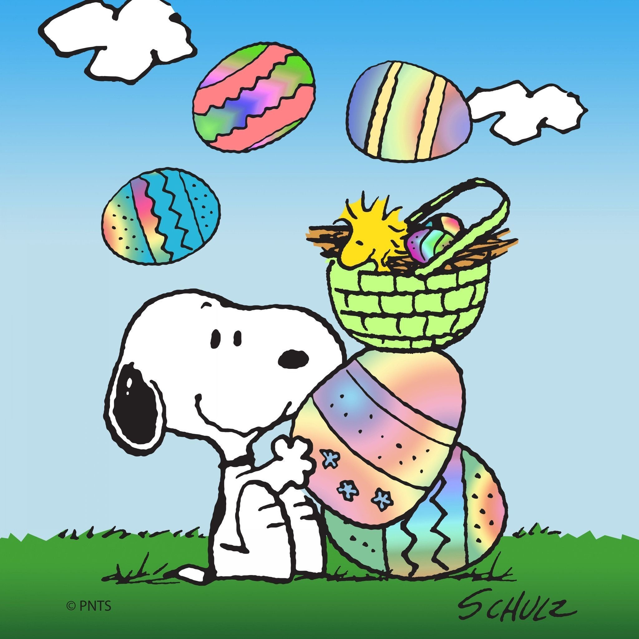 2048x2048  Snoopy Easter