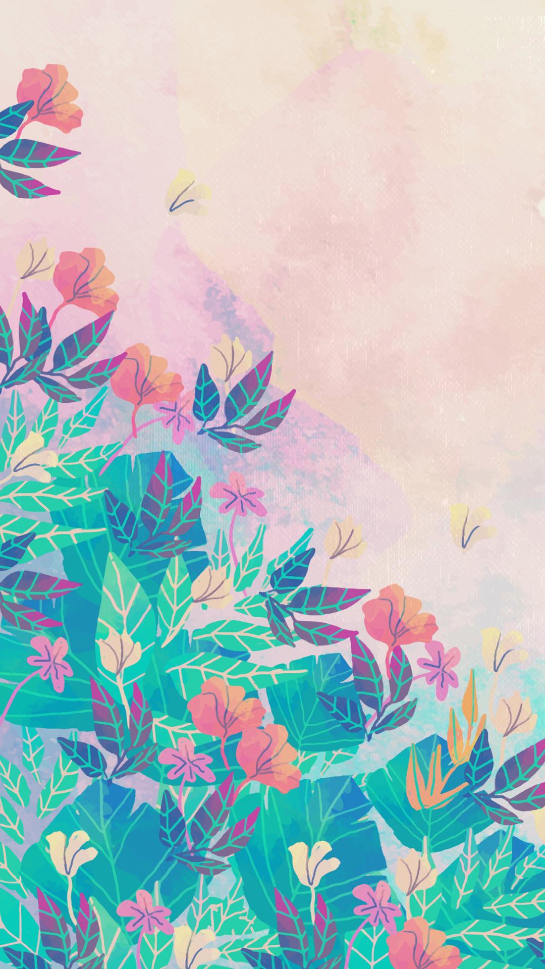 1242x2208 west-elm-watercolor-fern-wallpaper-2.jpg 1,242×2,208