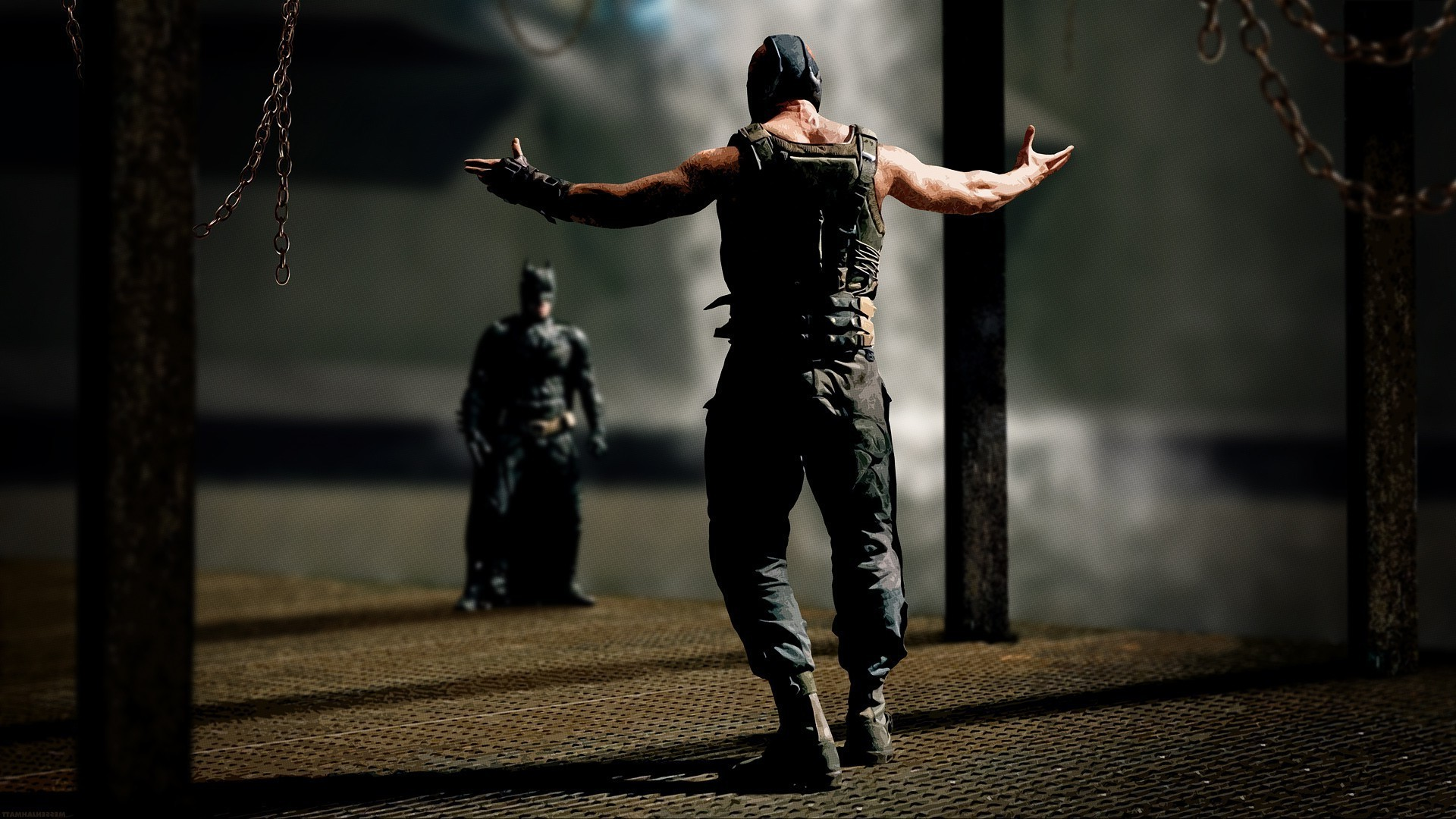 1920x1080 Bane, Batman, The Dark Knight Rises, Chains, MessenjahMatt Wallpapers HD /  Desktop and Mobile Backgrounds