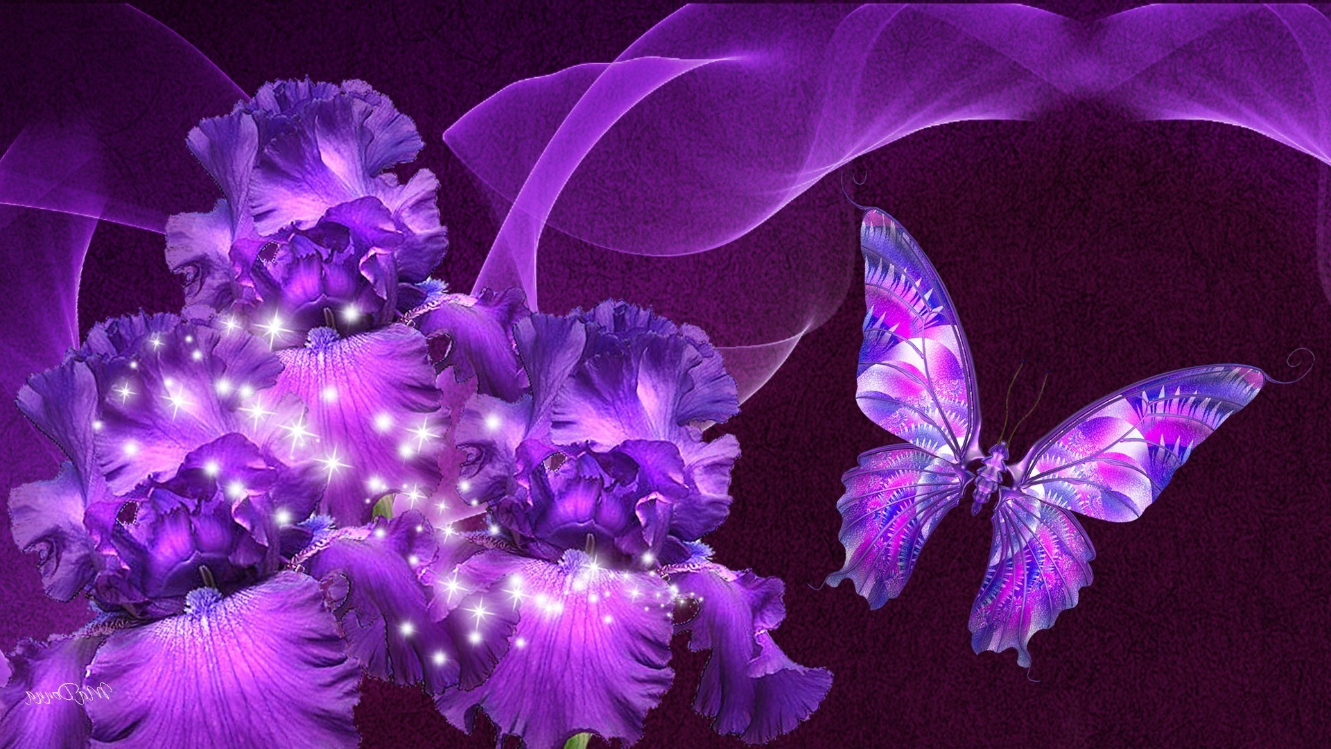 1920x1080 Purple Butterfly Wallpapers Mobile