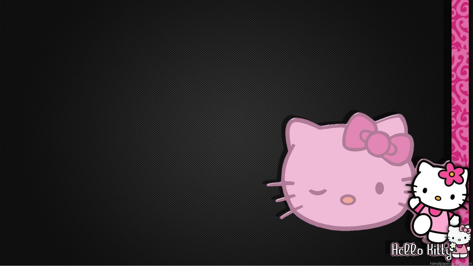 1920x1080 Hello Kitty Black Wallpapers Background As Wallpaper HD