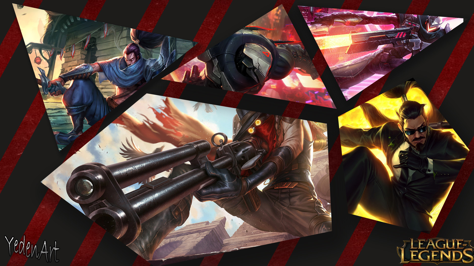 1920x1080 PROJECT Zed, Lucian, Yasuo, Secret Agent Xin Zhao & High Noon Jhin by