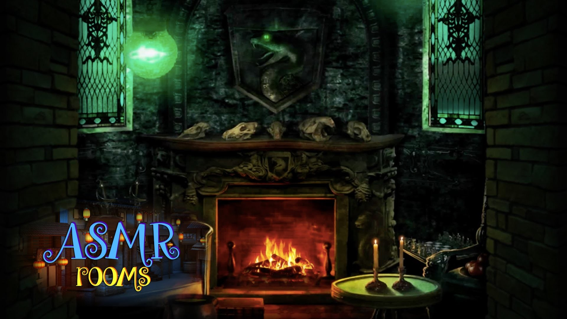 1920x1080 Harry Potter ASMR - Slytherin Common Room - POV HD ambient sound white  noise - Cinemagraphs - YouTube