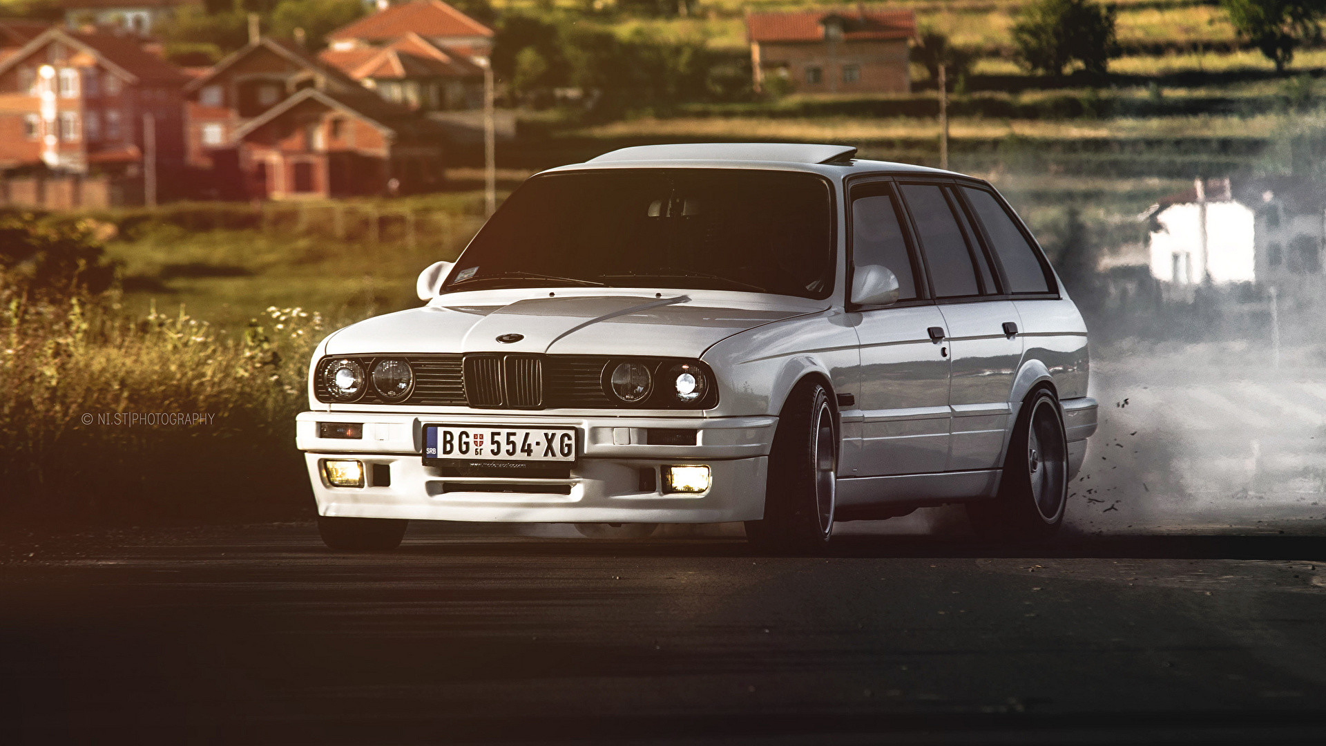 1920x1080 Wallpaper BMW E30 325 White auto Front  Cars automobile