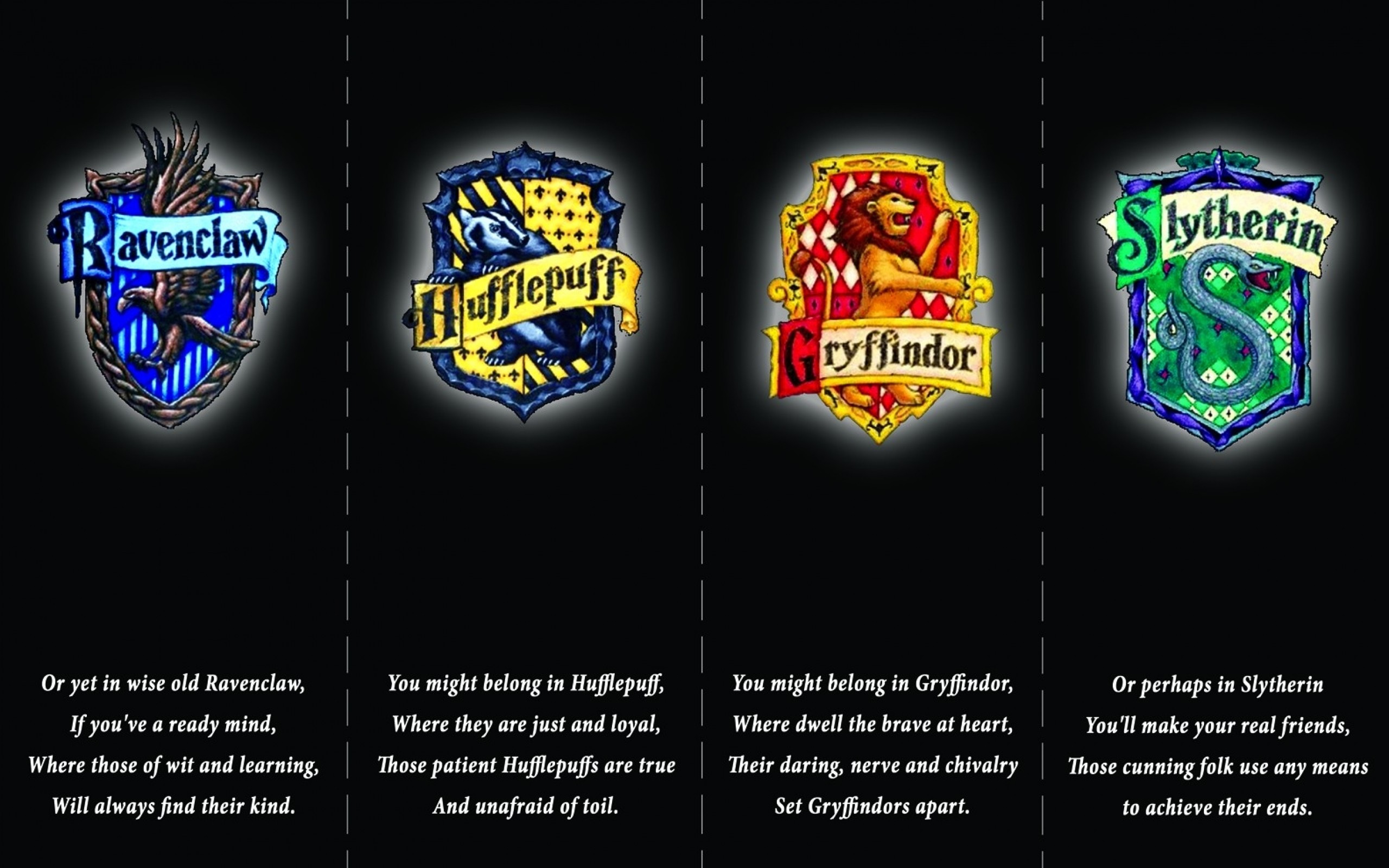 2560x1600 harry potter hufflepuff logos gryffindor hogwarts slytherin ravenclaw  1584x1049 wallpaper Art HD Wallpaper