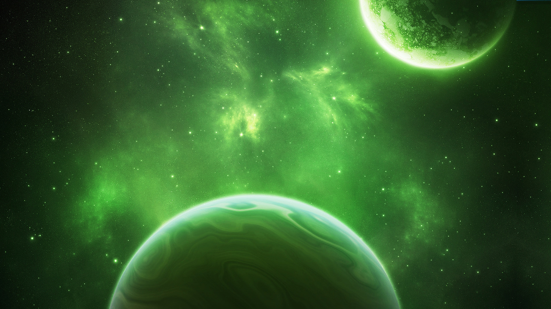 1920x1080 Related Wallpapers from Awesome Space Screensavers. Green Space