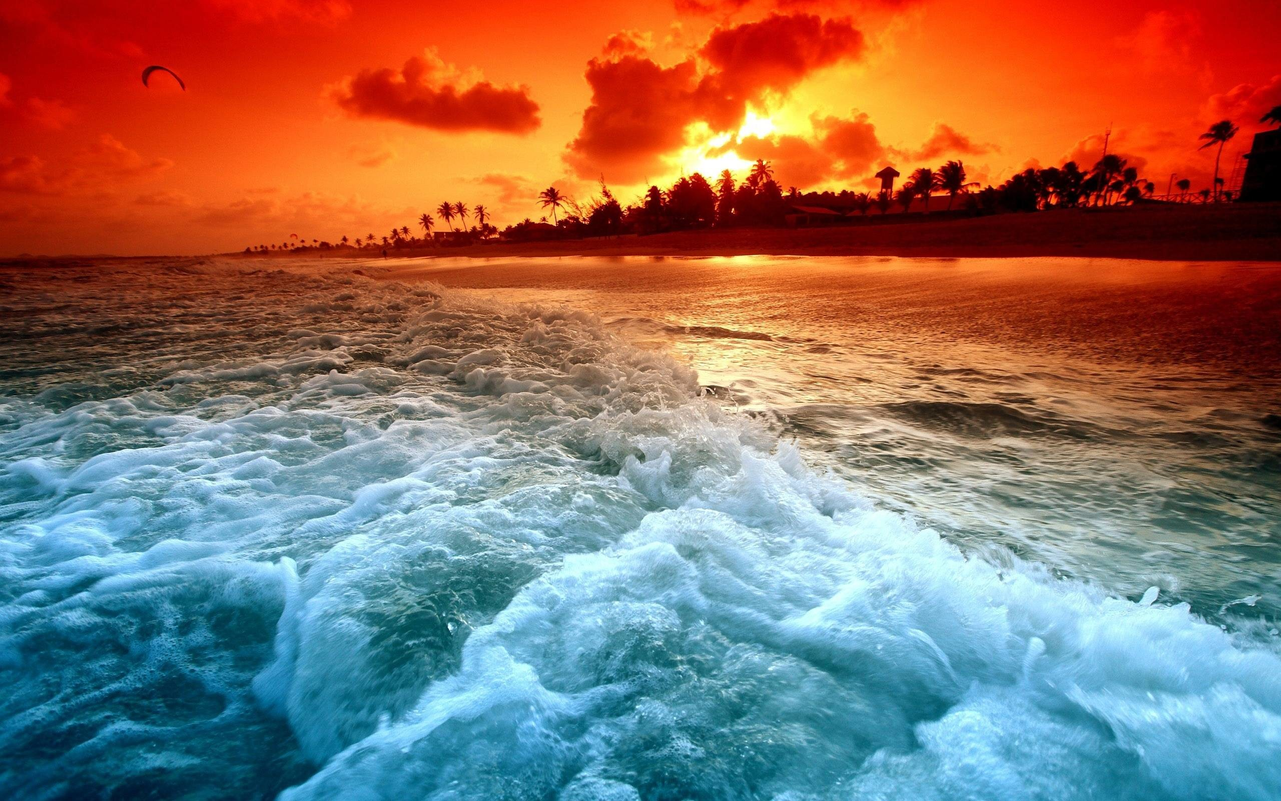 2560x1600 Beautiful Ocean Sunset Wallpaper for PC | Full HD Pictures