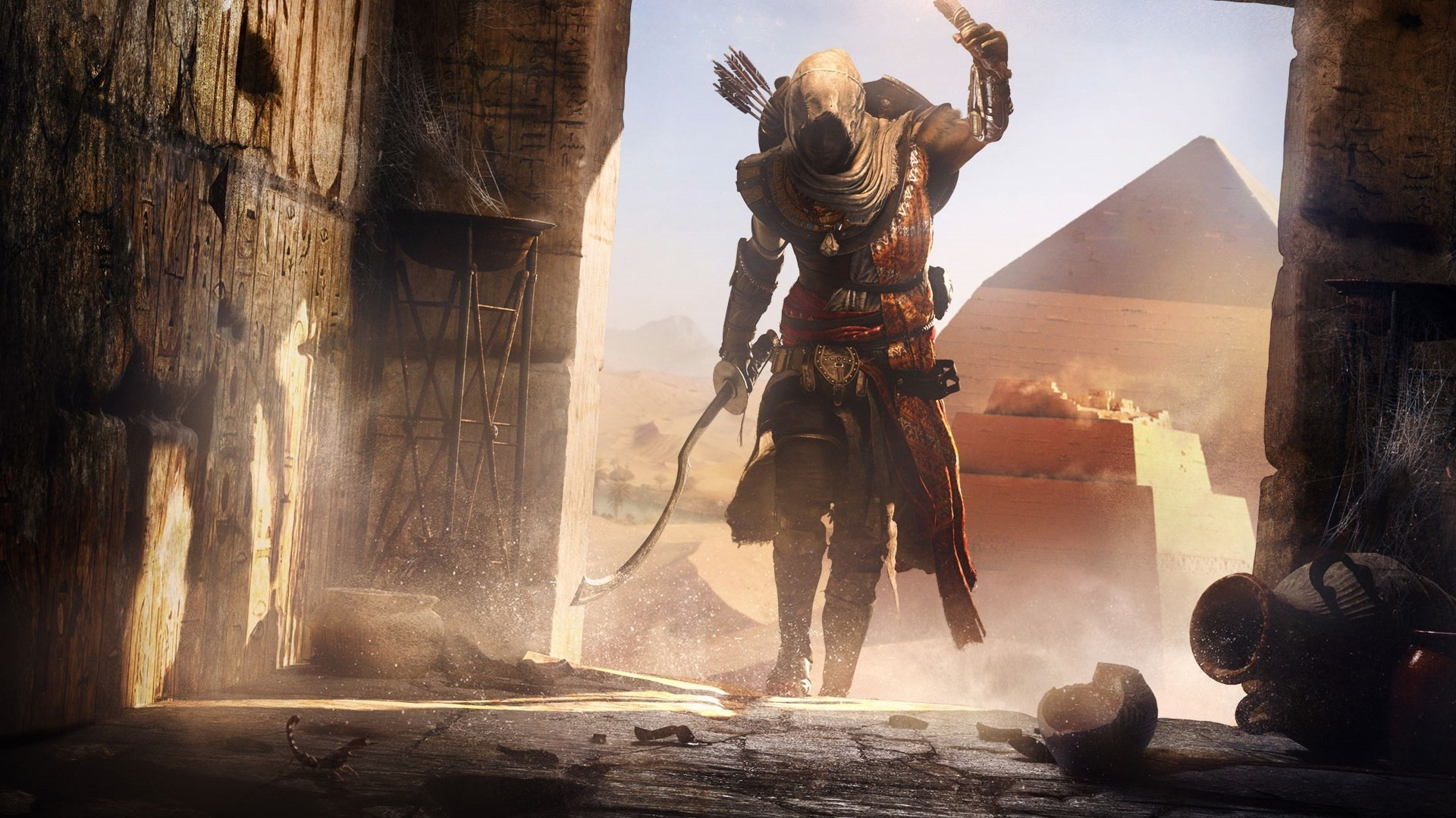 1920x1080 Select the image above to view the wallpaper full screen. 2. Press the  PlayStation 4 screen capture button on the controller. Assassin's Creed  Origins