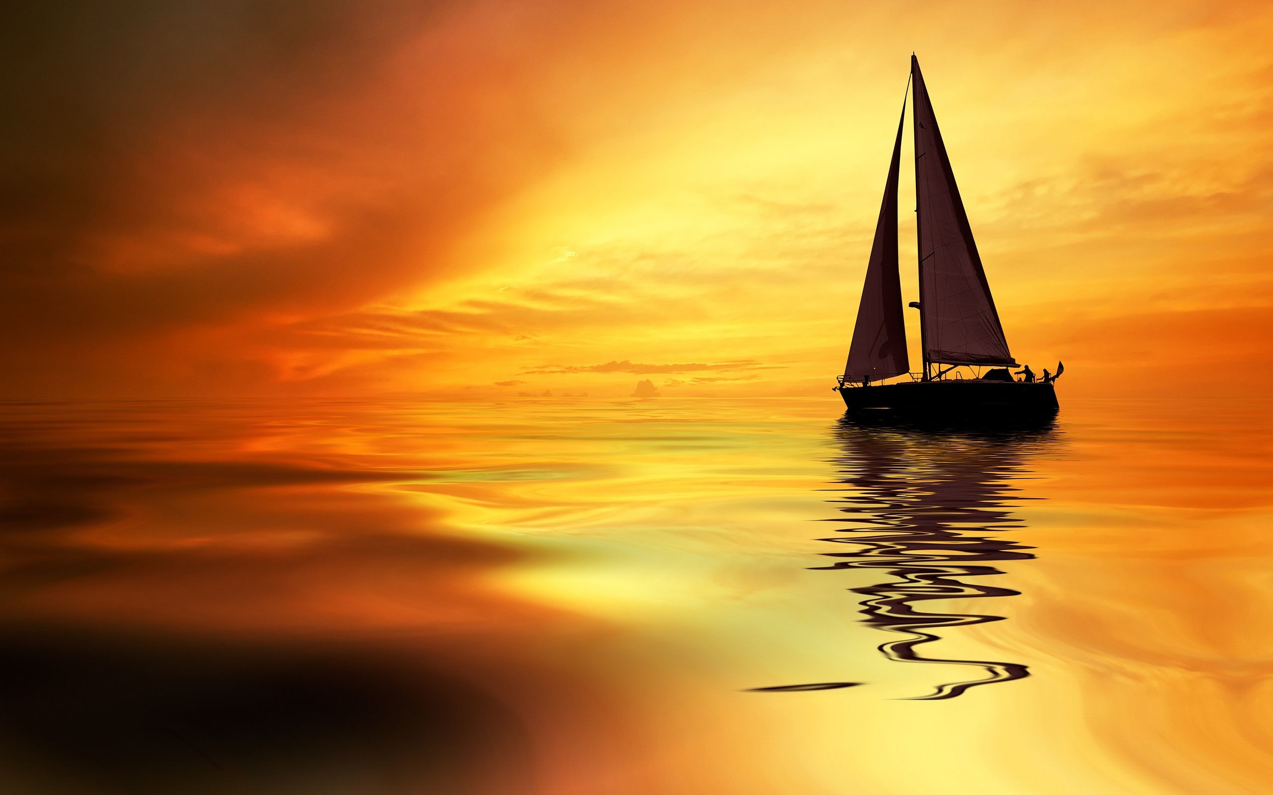 2560x1600 Sailboat Sunrise Wallpapers Pictures Photos Images