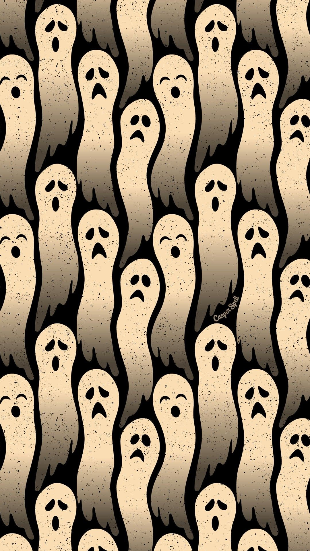 1080x1920 Ghosts repeat pattern Halloween background wallpaper patterns backgrounds  wallpapers spirits ethereal spooky cute Halloween Arts art illustration  drawing ...