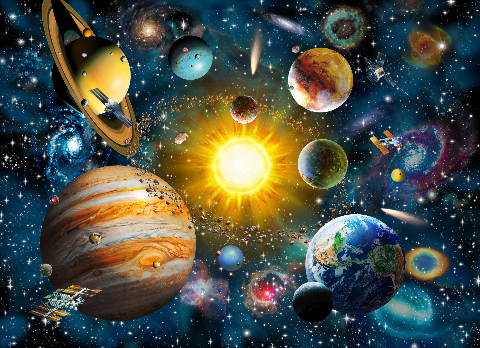 2000x1451 Our Solar System Wall Mural Photo Wallpaper