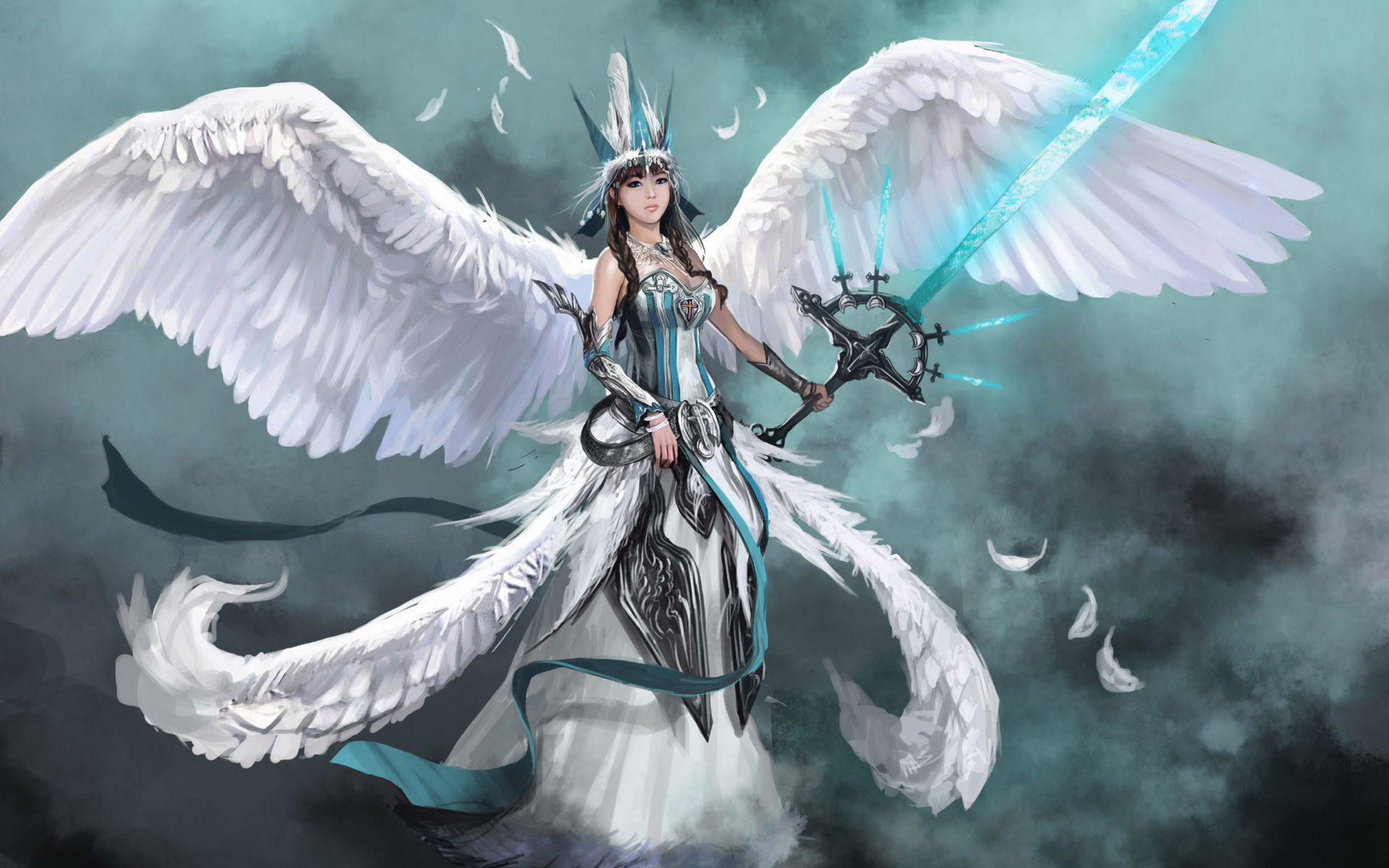 1920x1200 Angel Warrior Fantasy Hd Wallpaper