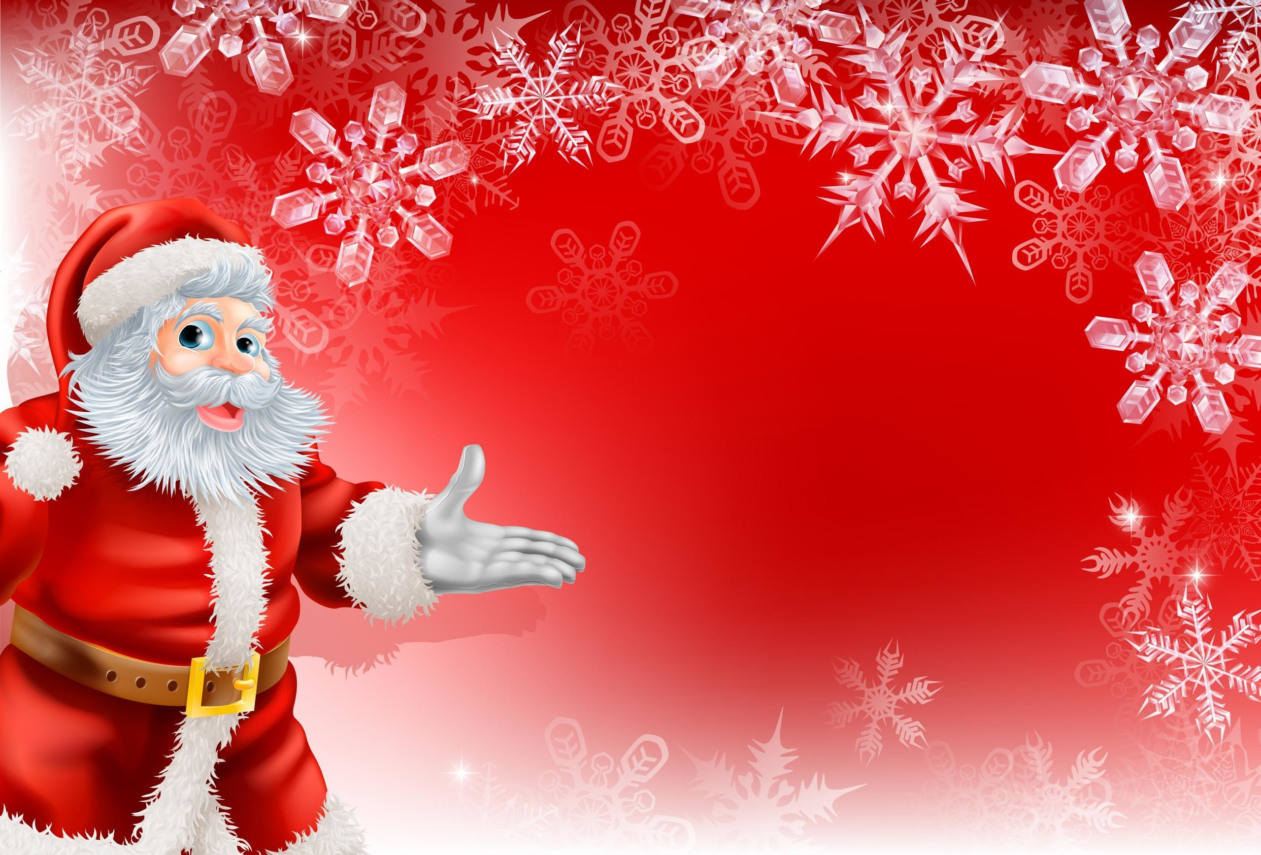 2560x1736 Christmas Santa Claus Wallpaper HD Pictures