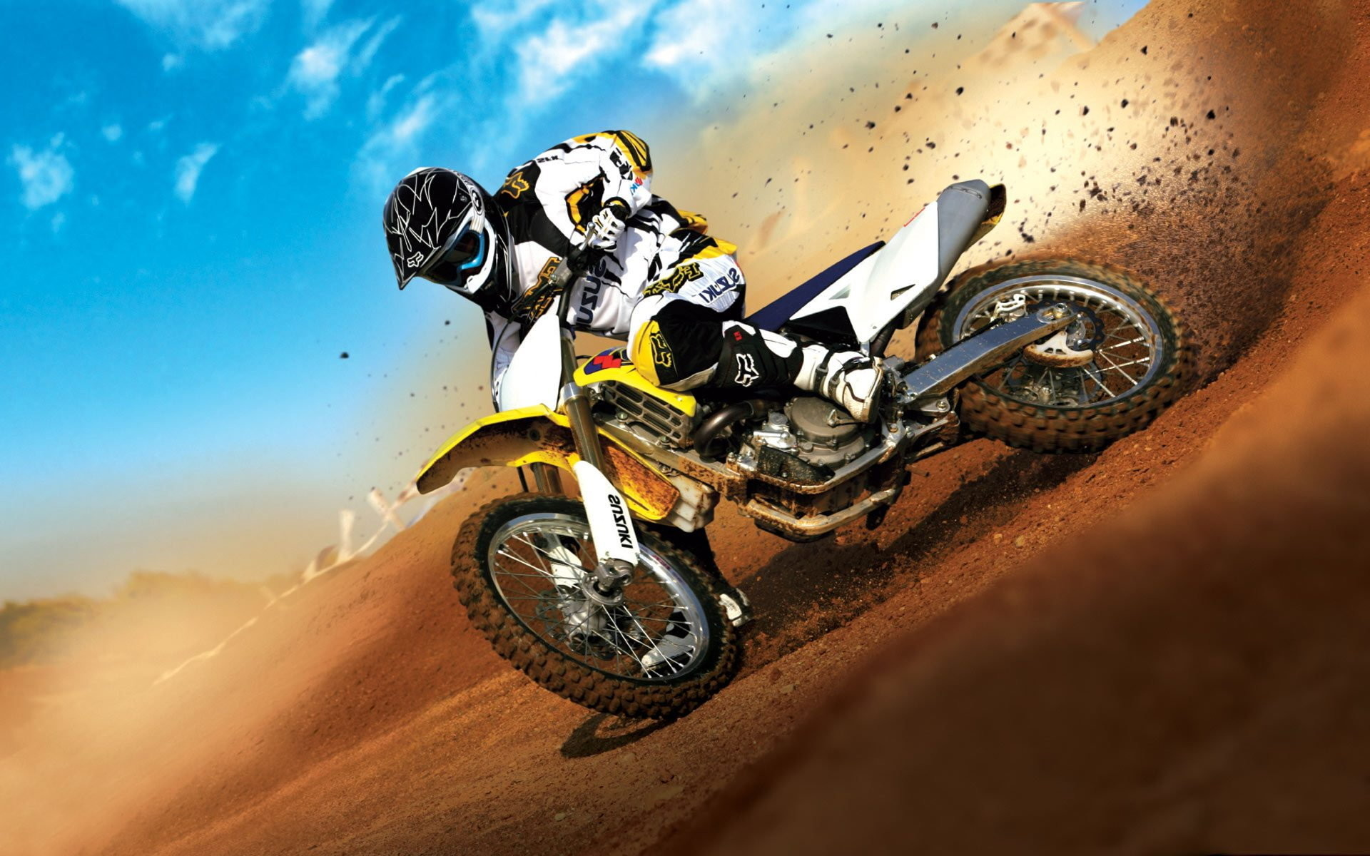1920x1200 Suzuki Super Motocross Wallpaper For Pc