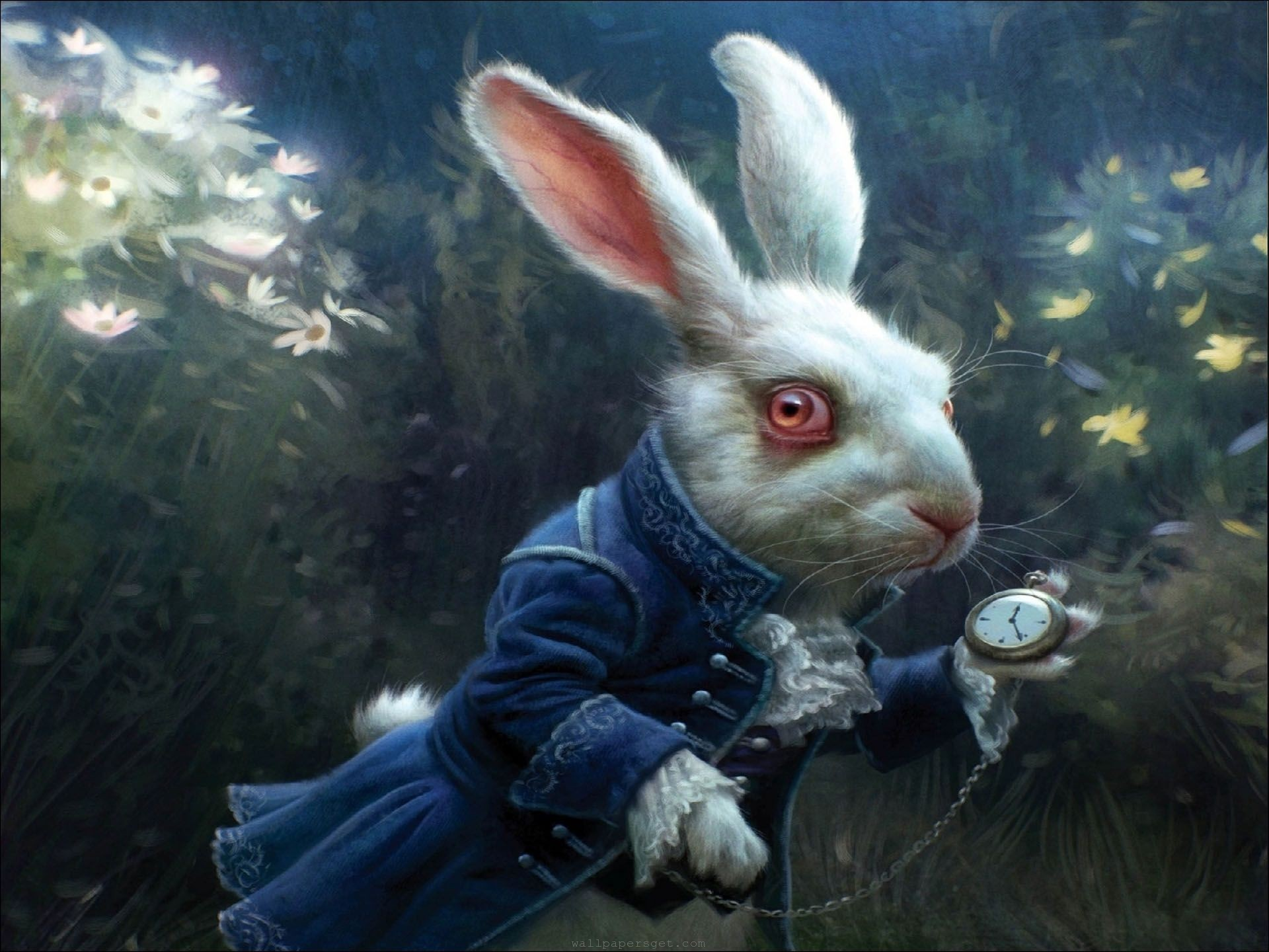 1920x1440 'Alice in Wonderland' White Rabbit Concept Art by Michael Kutsche. It's  beautifully done and the rabbit looks smart in its costume.