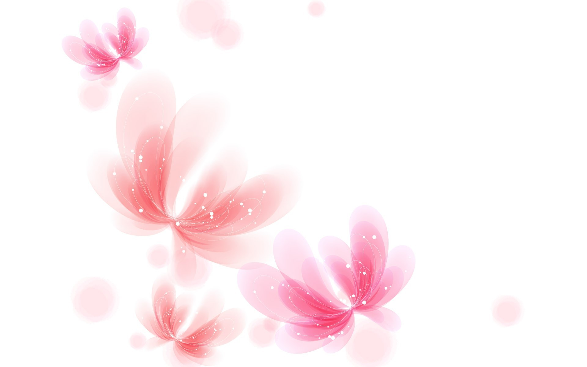 1920x1200 Pink and White Wallpaper