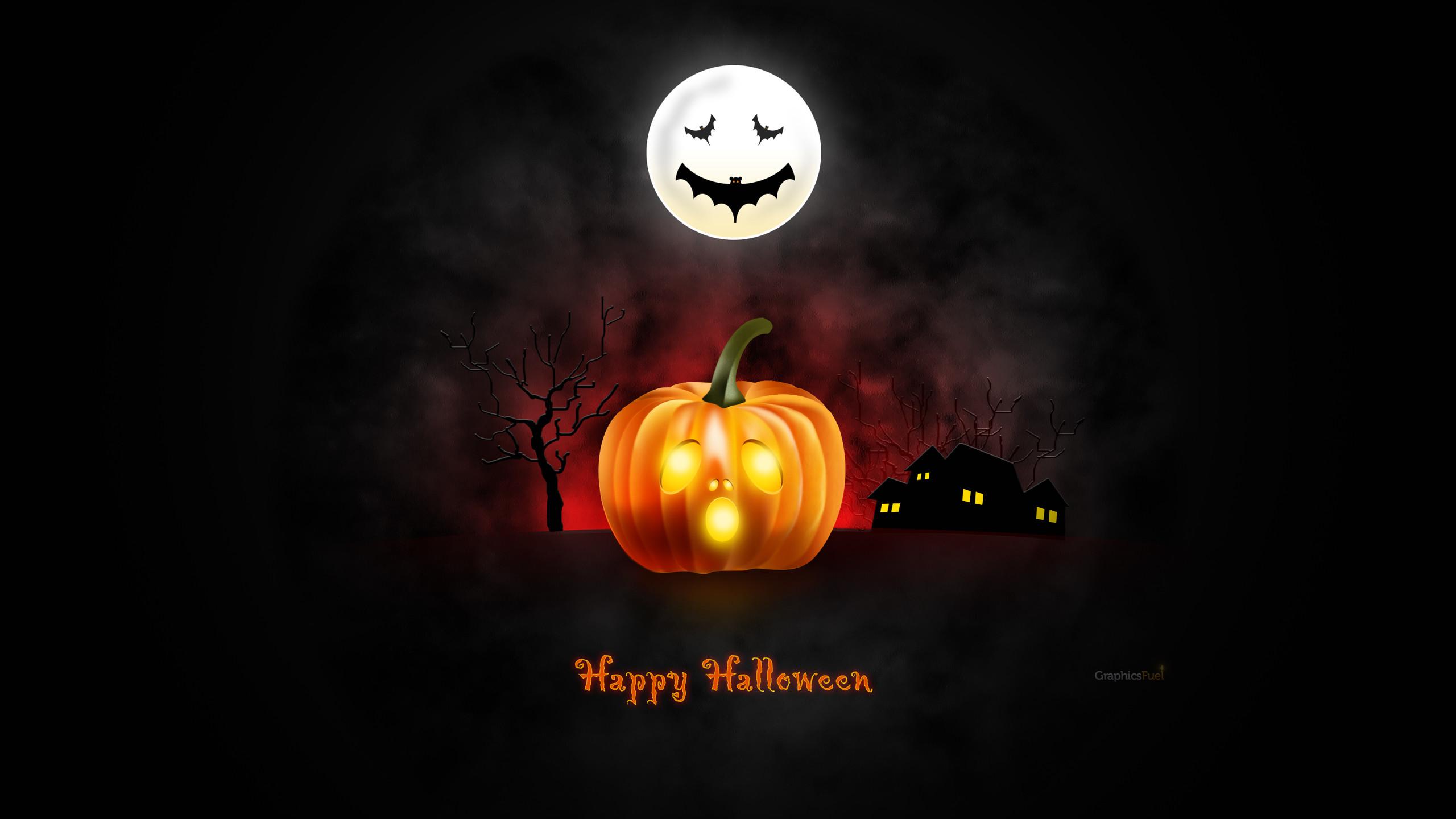 1920x1200 halloween moon hd wide wallpaper for widescreen