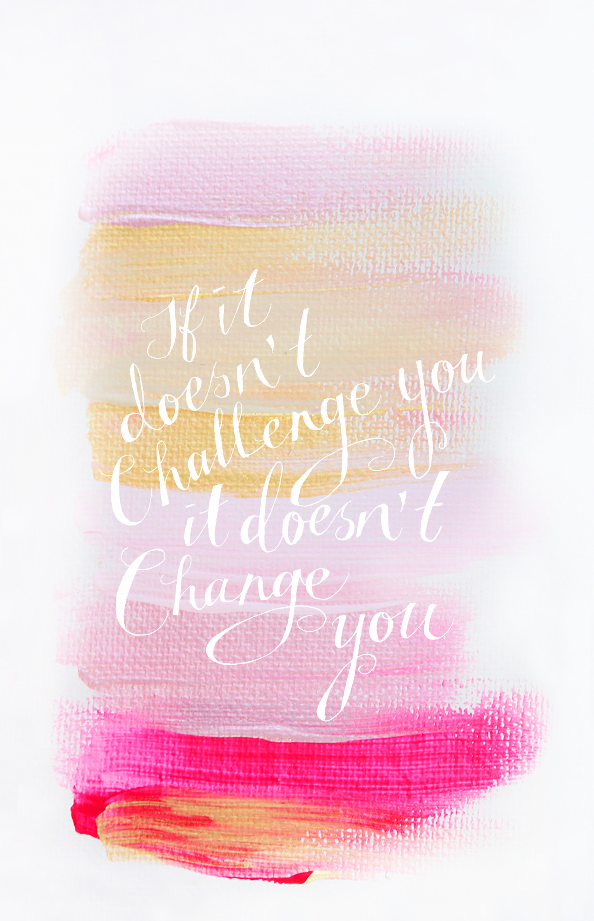 "1936x3000 ""If It Doesn't Challenge You, It Doesn't Change You"" Quote iPhone wallpaper  background"