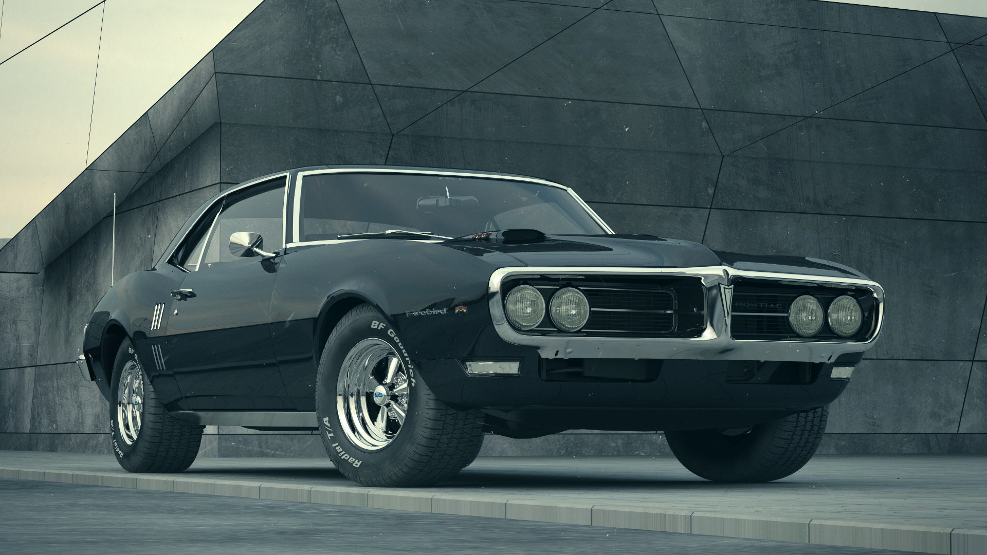 1920x1080  Pontiac Firebird 1968 Wallpaper