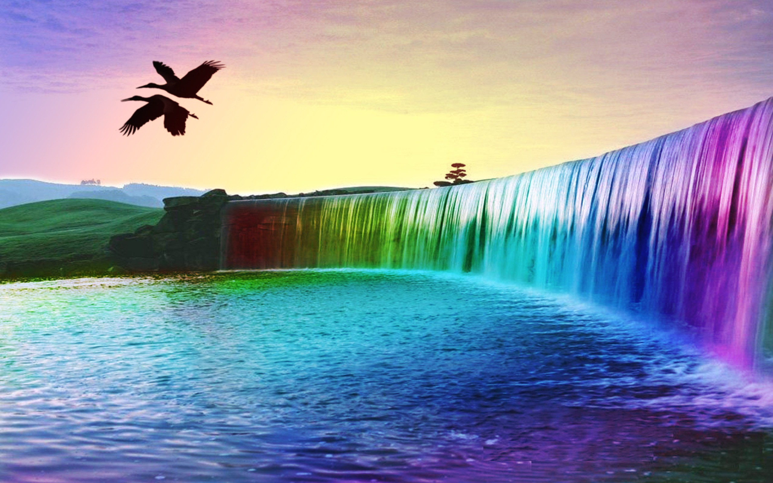 Desktop wallpapers waterfalls with rainbow 34 images - Wallpapers pc ...