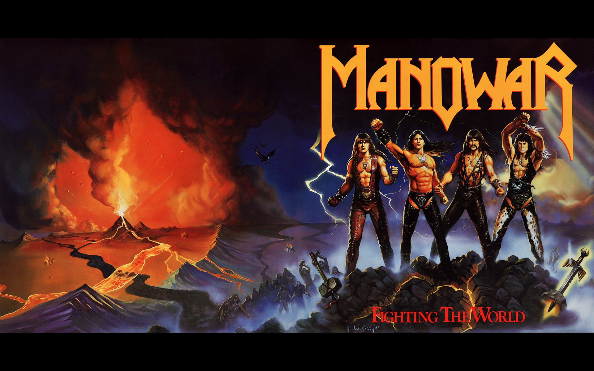 1920x1200 Music - Manowar Heavy Metal Metal Hard Rock Album Cover Wallpaper