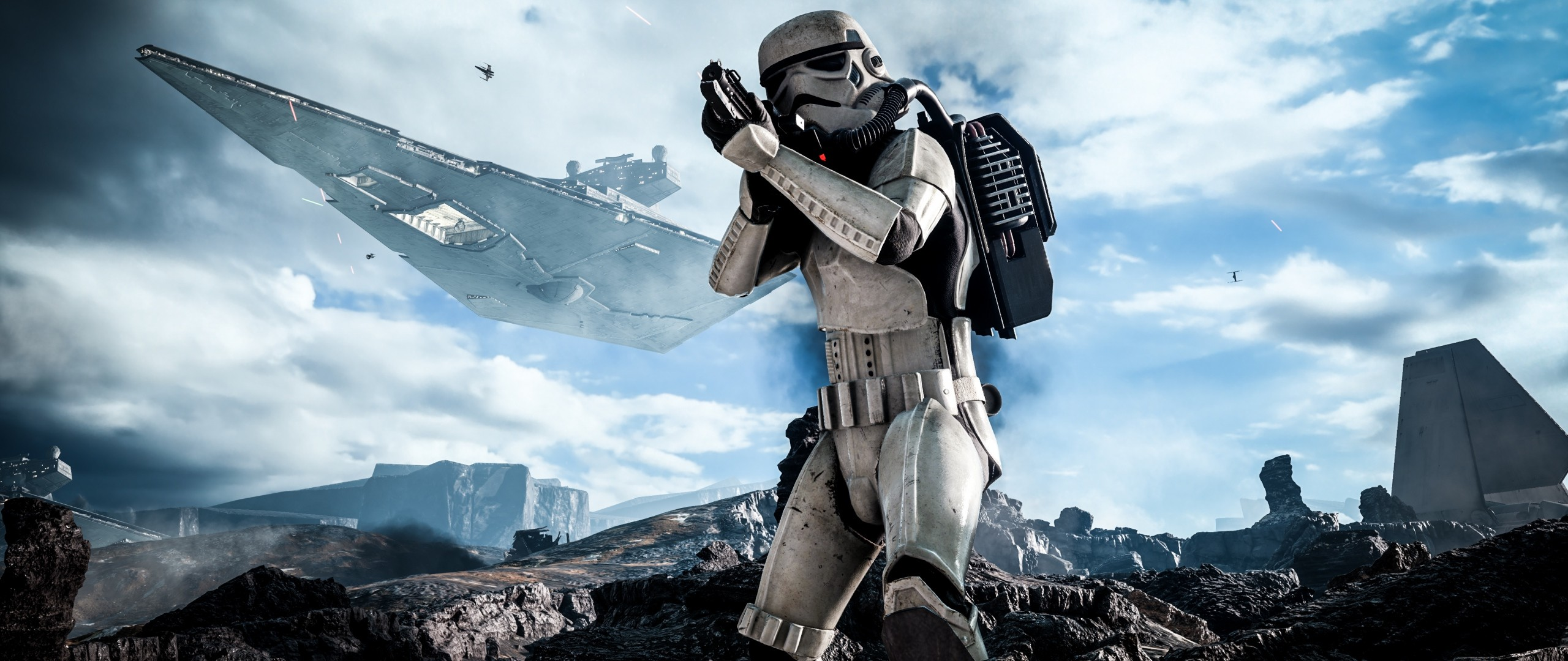 2560x1080 Preview wallpaper star wars, battlefront, electronic arts