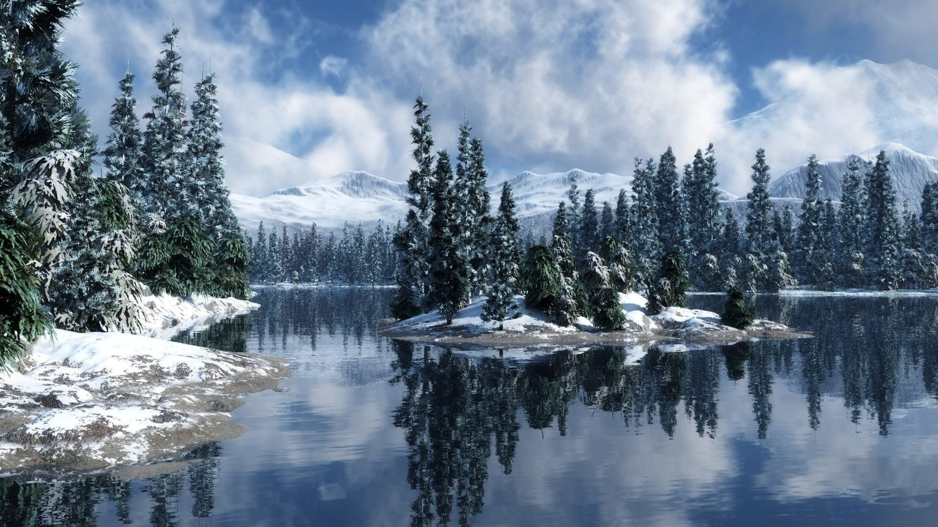 1920x1080 Winter Wonderland Desktop Background ①