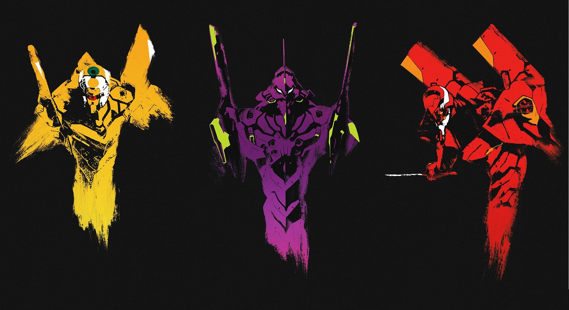 1980x1080 The Evangelion units! (x-post /r/Evangelion) ...